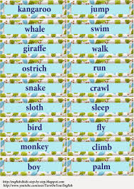 i can action verbs song for kids flashcards and worksheets words for flashcards wild animals and action verbs