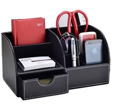 office desktop storage. Office Desk Organizer Remote Control Holder Desktop Storage Box Pen Leather Mobile Phone Case DGNSNH 3-in Boxes \u0026 Bins From Home Garden On L