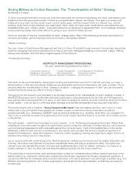 Military To Civilian Resume Best Military To Civilian Resume Template Nmdnconference Example