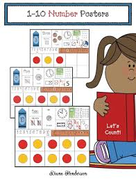 Anchor Chart Math Posters For Numbers 1 10 Classroom Freebies