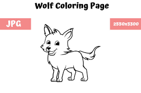 In other words we have here zoo coloring pages. Coloring Book Page For Kids Wolf Graphic By Mybeautifulfiles Creative Fabrica