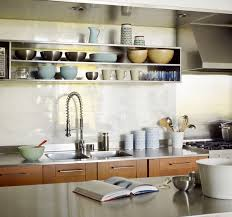 kitchen design idea open shelving 19 photos the stainless steel shelves