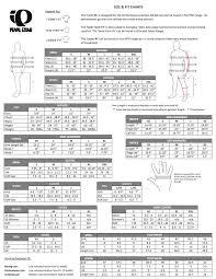 Pearl Izumi Size Guide