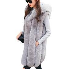 New Design Warm Faux Fur Vest Coat <b>Women</b> Vest Winter <b>Thick</b>