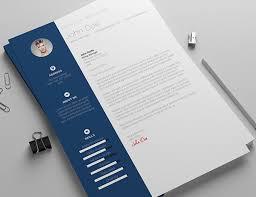blue modern resume template resume cover letter template modern resume template word free
