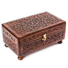 rusticity large wooden jewelry box 10 in x