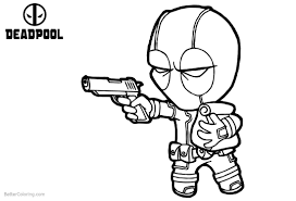 Little Baby Deadpool Coloring Pages Free Printable Coloring Pages