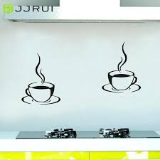 kitchen wall decal 2 coffee cups kitchen wall stickers cafe vinyl art decals home decor wall kitchen wall decal