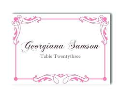 Name Place Cards Template Table Place Names Template Wedding Place