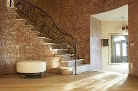 plaster wall covering wall decorating ideas hallway decoration staircase wrought iron banisters
