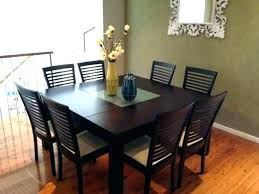 glass dining room table 8 chairs seater set black extending and round for awesome furniture fascinati