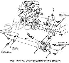 4th gen lt1 f body tech aids drawings exploded views a c compressor mounting