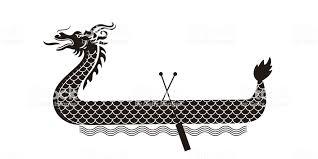 ドラゴン ボート祭りイラストドラゴン ボート祭書道フォント アジア