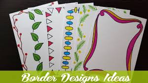 Assignment Design Images How To Make Easy Page Border Designs For Assignment