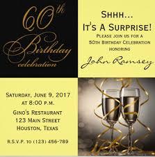 Surprise 60th Birthday Invitation Templates Free Magdalene
