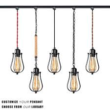 kiven h type track light pendants restaurant chandelier decorative chandelier instant pendant light industrial factory pendant lamp bulb not included