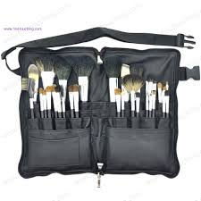 top quality 32pcs professional makeup brush set with belt bag pu waist bag cosmetic brush kits for makeup artist