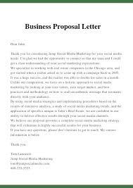 Business Proposal Letter Business Letter