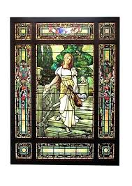 stained glass antique stain glass windows stained beveled wooden nickel antiques brothers landing window griffin