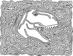 Favors Dinosaur Printable Maze