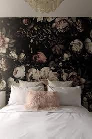 Dark Floral Wallpaper Bedroom ...
