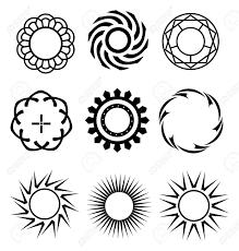 Black Circle Design Elements 1 Royalty Free Cliparts Vectors And