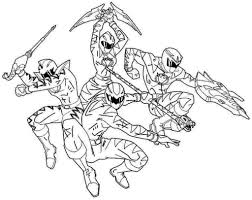 Power Ranger Color Colouring Pages Rangers Coloring Free Printable