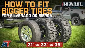 Chevy Truck Tire Size Chart How To Fit Larger Tires On Your Chevy Silverado Or Gmc Sierra