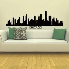 wall decal vinyl sticker chicago skyline city silhouette decor sb102