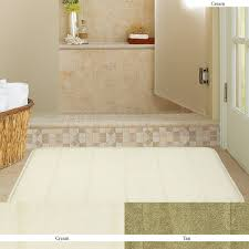 com mohawk home memory foam cream bath rug 17 inch by 24