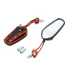 2pcs Universal <b>Orange</b> Adjustable <b>Motorcycle Bar End Side</b> ...