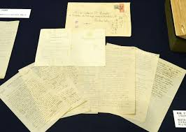 keio university displays einstein s handwritten documents on manuscripts on written by albert einstein during a here in 1922 are on display
