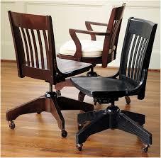 vintage wooden swivel desk chair ideas interior design throughout wood decorations 5