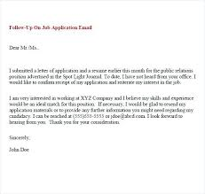 Sample Resume Follow Up Email Topshoppingnetwork Com