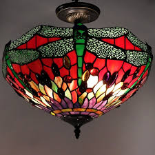style dragonfly ceiling lamp
