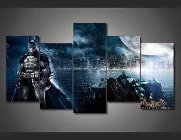 5 panel dc comics batman framed wall
