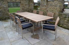 Metal and wood patio furniture Elegant Outdoor Mesmerizing Teak Patio Furniture With Metal Legs And Black Cushions Teak Patio Outdoor Home Improvement And Decorating Ideas Page 13 Mfclubukorg