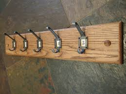 School Coat Racks The Old Oak Barrel Oak Coat Rack With 100 Cast Iron School Hooks 29