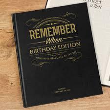 birthday edition newspaper book