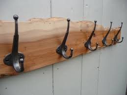 Handmade Coat Rack gothic look coat board hooked on hooks 23