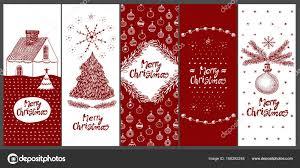 Christmas Design Template Christmas Vector Greeting Card Design Template Hand Drawn