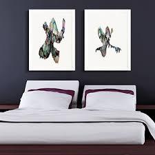 bedroom wall art canvas. Plain Bedroom Cool Blue Hues  Minimalist Bedroom Canvas Art And Wall A