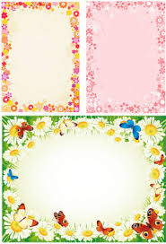 Simple Flower Chart Paper Border Designs Bedowntowndaytona Com