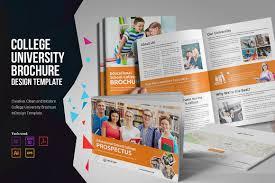 University Brochure Template College University Prospectus Brochure Templates Creative Market 19