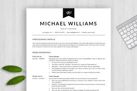 Professional Resume Template Cv Resume Templates Creative Market