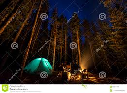 camping in the woods at night. Royalty-Free Stock Photo Camping In The Woods At Night G