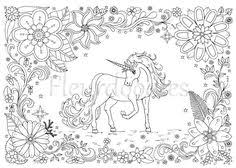 Unicorn Coloring Pages Adults