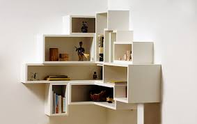 ... Modern Design Shelves For Corner Walls Thin Strong Wooden Material  Square White Stayed Drawer Floating Furniture Smooth Painted ...