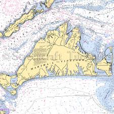 Massachusetts Marthas Vineyard Nautical Chart Decor