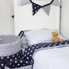 ticking stripe duvet cover ideas blue cot bed duvet cover and pillow case by lime